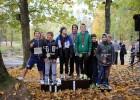Foto: Lielvārdē sacenšas rudens krosa stafetē