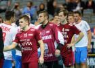 Foto: Latvija sensacionāli pārspēj čempionāta saimniekus čehus