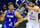 Serbijai plus 29 pret Islandi, Slovēnija iztur Nīderlandes izrāvienu 16:0