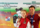 Video: Boksere Marčenko pēc raunda beigām mēģina noformēt punktus
