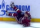 Video: Rīgas dinamieši lielā skaitā cieš KHL nedēļas spēka paņēmienos