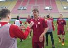 """Regža ar """"hat-trick"""" izrauj U19 izlasei lielisku uzvaru"""