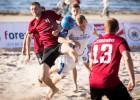 Pēc pirmā pludmales futbola čempionāta posma vadībā divas komandas