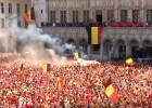 Video: PK bronzas ieguvēji beļģi triumfāli atgriežas mājās