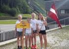 Latvijas jaunajām tramplīnlēcējām lielisks sniegums Rūpoldingā