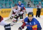 Latvija papildlaikā zaudē Kazahstānai un ieņem otro vietu Dienvidkorejā