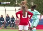 Video: Mati pa gaisu: meiteņu futbolistes sakaujas U17 izlašu spēlē