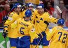 Zviedrija divreiz ātri atbild un trešajā trešdaļā pārspēj Šveici