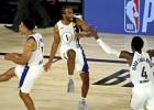 """Disnejlendas karalis Vorens pieveic arī """"Lakers"""", Denvera uzvar otrajā pagarinājumā"""