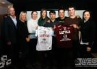 Foto: LFS un AVEX pateicas Latvijas izlases līderēm