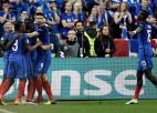 Francija iznīcina Islandi un iesoļo pusfinālā