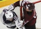 Video: Latvija straujā un rezultatīvā spēlē galotnē zaudē ASV hokejistiem