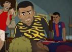 Video: Futbola čempionu mājā notiek slepkavība