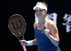 Pavļučenkova sakauj Bertensu, trešā simta tenisiste Birela satriec Vekiču