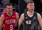 Video: Brāļiem Bertāniem 10+4 aizvadītajā NBA naktī