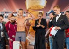 18 gadus vecais talants Grundulis Supersērijas cīņu vakarā kopā ar treneri Kleinu