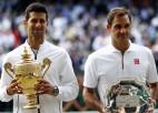 Federers neizmanto divas mačbumbas, Džokovičs iegūst piekto Vimbldonas titulu