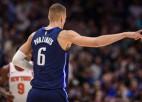 """Porziņģis Ņujorkā nevēlas runāt par iemesliem, kādēl pieprasīja maiņu no """"Knicks"""""""