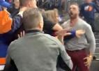 """Video: """"Blue Jackets"""" mačā kaujas līdzjutēji"""