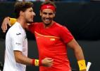 """Spānija ar uzvarām visās deviņās spēlēs sasniedz """"ATP Cup"""" ceturtdaļfinālu"""