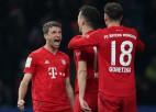 """""""Bayern"""" otrajā puslaikā iesit četrus vārtus un sakauj """"Hertha"""""""