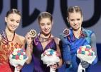 Krievietes aizņem visu pjedestālu EČ sieviešu daiļslidošanā