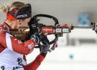 Bendika šauj nesekmīgi un dodas soda aplī, Latvijai jauktajā pāru stafetē 17. vieta