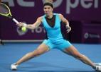 Kuzņecova revanšējas Benčičai, atkārto Vozņacki uzvaru rekordu Dohā