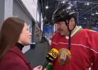 """Lukašenko: """"Ledus halle ir labākās zāles pret vīrusu"""""""