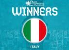 Par pirmo Eiropas efutbola čempioni kļūst Itālija