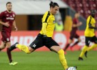 Latvijas izlases aizsargam Tarasovam Somijā savainojums jau spēles otrajā minūtē