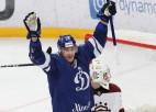 Rīdzinieku vārtos trīs ripas iemetušais Jaškins - nedēļas labākais uzbrucējs KHL