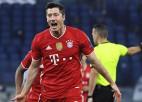 """Levandovskis kļūst par trešo rezultatīvāko futbolistu ČL, """"Bayern"""" ar vienu kāju 1/4 finālā"""