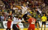 Foto: Latvijas handbolisti uzvar balkrievus, taču netiek uz pasaules čempionātu