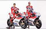 "Foto: ""Ducati"" prezentē Lorenso un Doviciozo MotoGP motociklus"