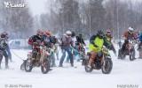 Foto: Latvijas čempionāta skijoringā un ziemas motokrosā II posms