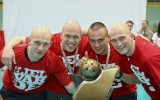 """Foto: ELVI florbola līgas čempiones """"Lielvārdes"""" godināšana"""