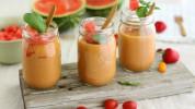 Dārzeņu gaspačo ar arbūzu vasarai