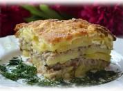 Fotorecepte: kartupeļu, siļķu un gaļas sacepums
