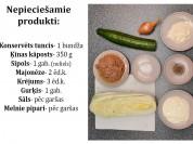 Fotorecepte: Tunča salāti ar ķīnas kāpostu