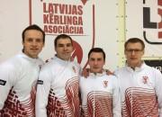 """Vīriešu kērlinga izlasei viens panākums četrās spēles """"Baden Masters"""""""