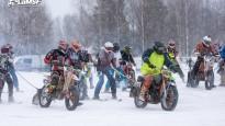 Latvijas čempionāta skijoringā un ziemas motokrosā II posms