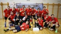 Rīgas čempionātā florbolā uzvarētāju apbalvošana