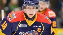 NHL drafta trešā izvēle gūst vārtus ar pretinieka nūju