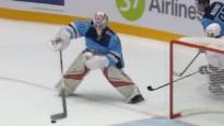 KHL vārtsargs pieļauj briesmīgu kļūdu