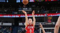 """Dairim Bertānam seši punkti """"Pelicans"""" astoņu spēlētāju rotācijā un triumfs Sakramento"""