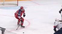 CSKA uzdāvina jaunajam censonim pirmo vārtu guvumu KHL