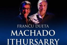 """Kultūras pilī """"Ziemeļblāzma"""" gaidāms franču dueta """"Machado & Ithursarry"""" koncerts."""