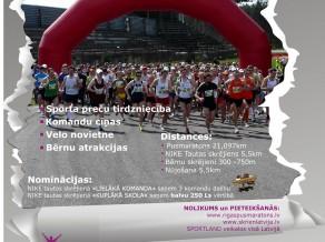 Rīgas pusmaratonā būs īpašas nominācijas NIKE tautas skrējienā