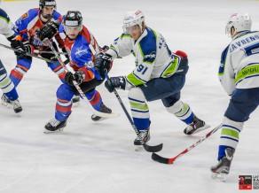 """HK """"Mogo"""" Latvijas kausa pirmajā pusfinālamačā ar 7:1 apspēlē HK """"Zemgale/LLU"""" hokejistus"""